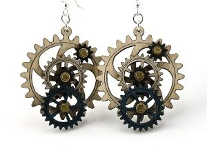 5013-4 Gear Earrings