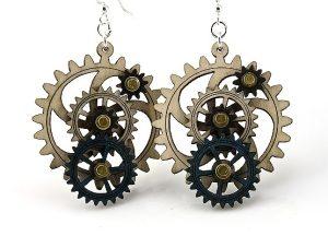5013-4 Gear Earrings