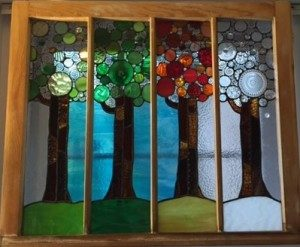 Four Seasons stained glass